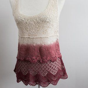 American Eagle Outfitters Ombre Pink to White Top